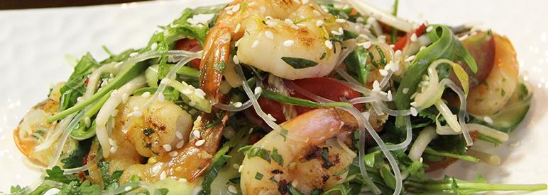 Thai Salat Glasnudelsalat Garnelen