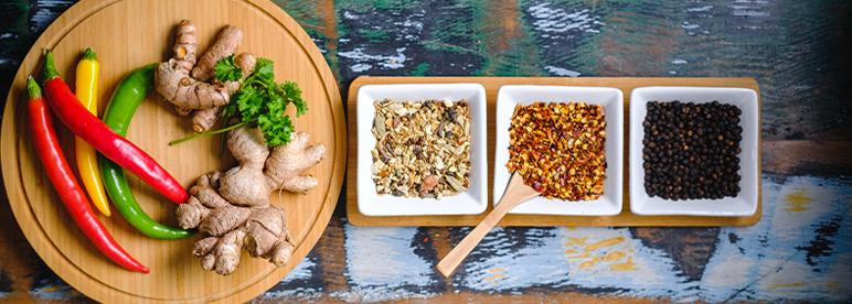 Grillgemüse asiatisch Marinade Zutaten Chiliflocken Ingwer Gewürze