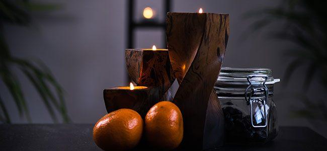 tischdeko kerzen teelichter lowkey stimmung dekoration
